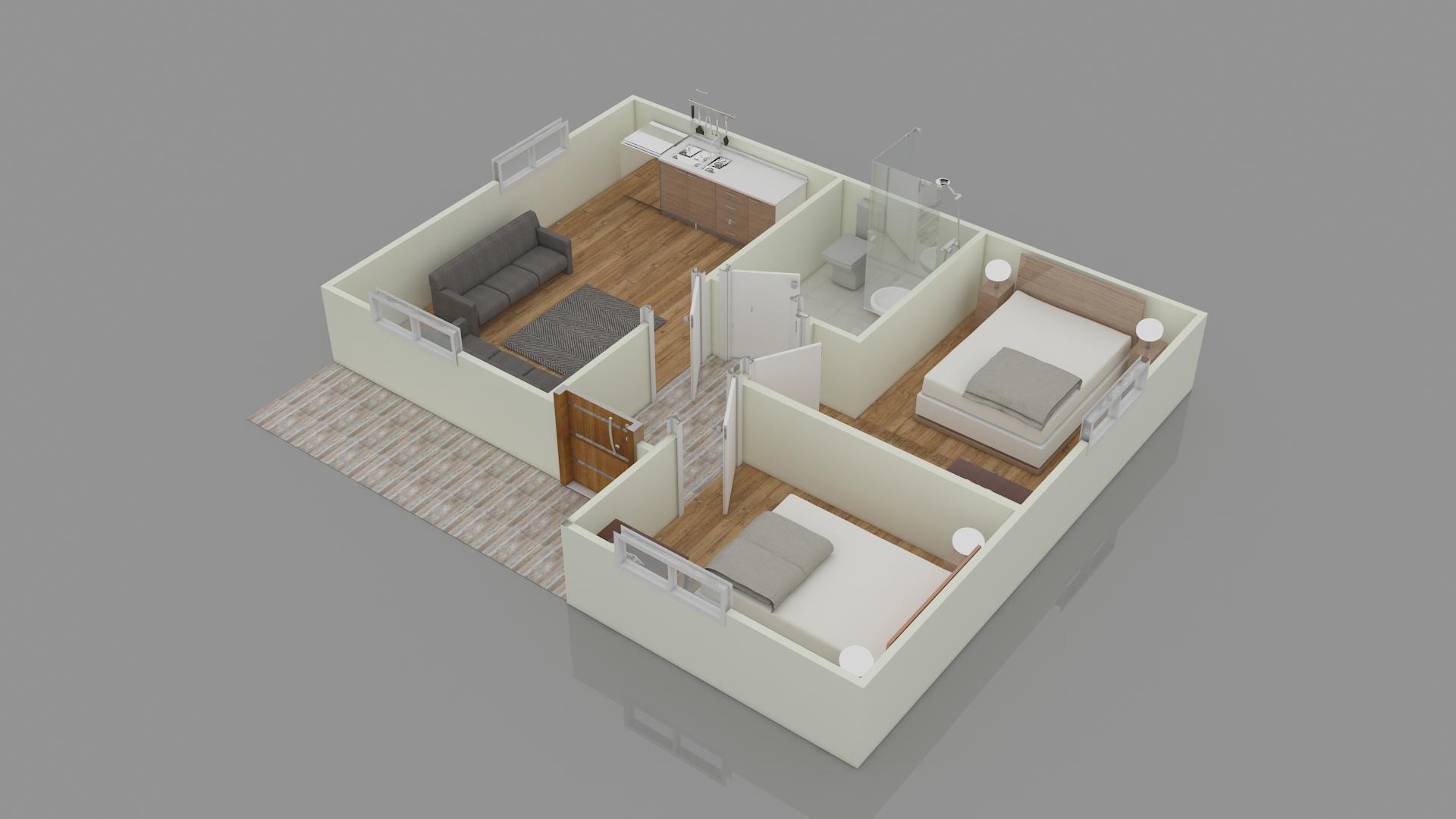 52 m2 PREFABRİK EV UYGUN FİYAT GARANTİSİ
