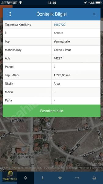 TEZALdan Yakacıkta 256m2 Yatırımlık Yüksek Getirili Hesaplı Arsa
