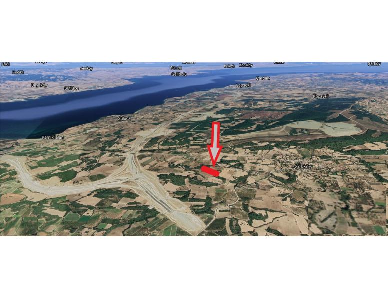 ÇANAKKALE/GÖKKÖY'DE Satılık 12,527 m2 Yatırımlık Arazi